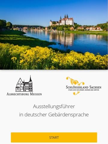 Albrechtsburg Meissen – Ausstellungsführer in deutscher Gebärdensprache Screenshot