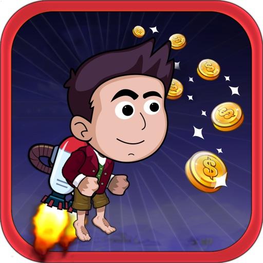 Cute Kid Jetpack Runner in the Monster Forest iOS App