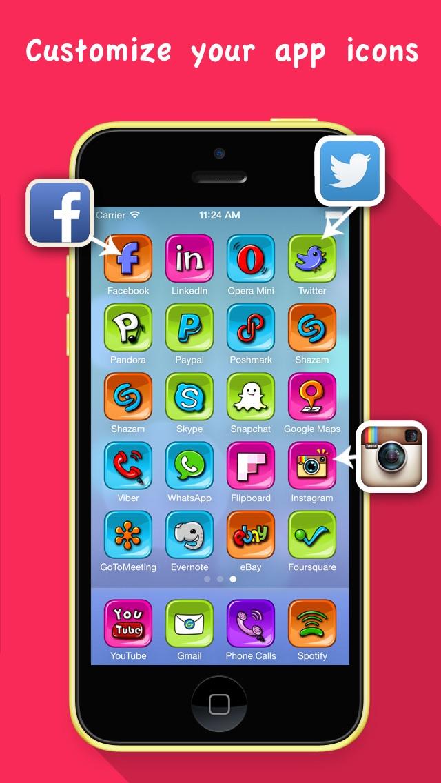 Конструктор Иконок PRO- Иконки для Основного Экрана freeСкриншоты 1