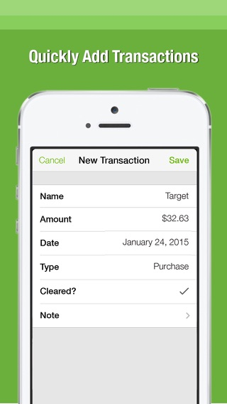 simple check register app