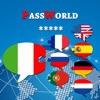 PassWorld – La guida di conversazione per viaggiare Italiano / Inglese e in più Spagnolo, Francese, Tedesco, Olandese, Portoghese, Russo