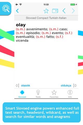 Italian <-> Turkish Slovoed Compact talking dictionary screenshot 1