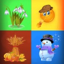 The Four Seasons - educational game for children and babies