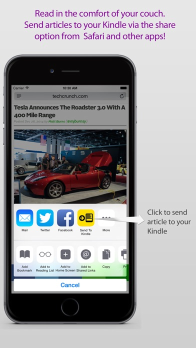 download Comfy Read : Send web articles to your Kindle apps 2