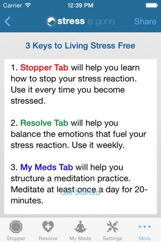 Stress Is Gone screenshot 1