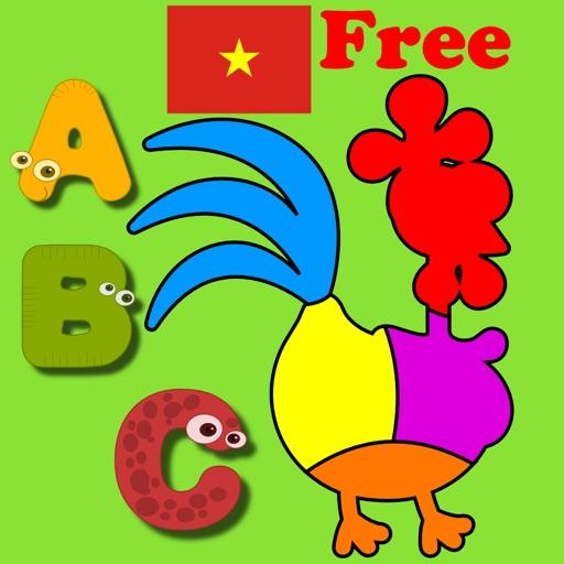 Vietnamese Kids Shape Puzzles Free iOS App