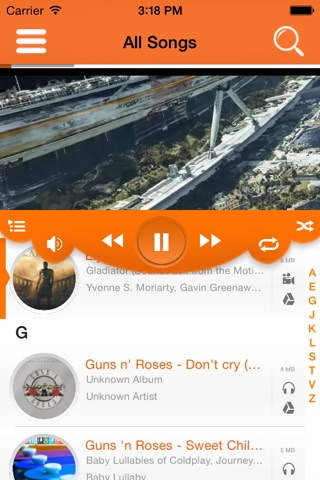 Drizzle Cloud Media Player : Live cloud stream music and movies screenshot 4