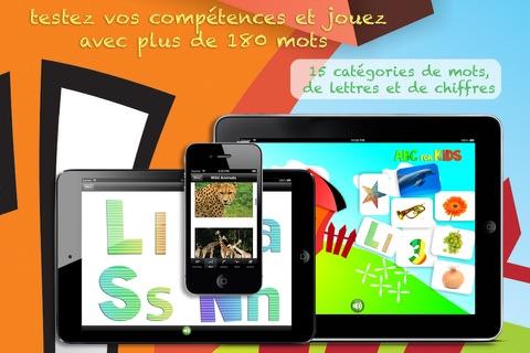 ABC pour les Enfants: Apprenez le Français - Les Lettres, Chiffres et Mots avec des Animaux, Formes, Couleurs, Fruits et Légumes screenshot 2