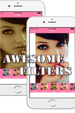 Instant Selfie Photo Edit with Filter, Effect and Share for Facebook, Twitter, Instagram with Friends !!! screenshot 1