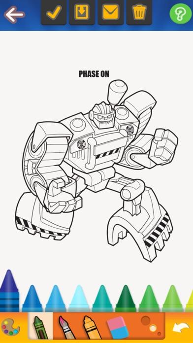 iphone screenshot 3 - Rescue Bots Coloring Book