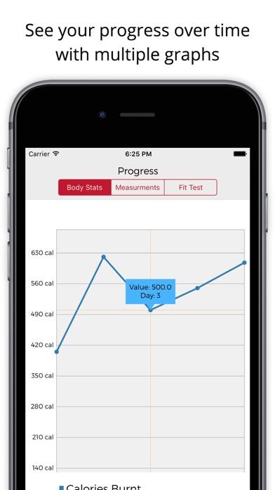 Insane 60 Day Workout Tracker - Custom result logger for high intensity weight loss & fitness program Screenshot