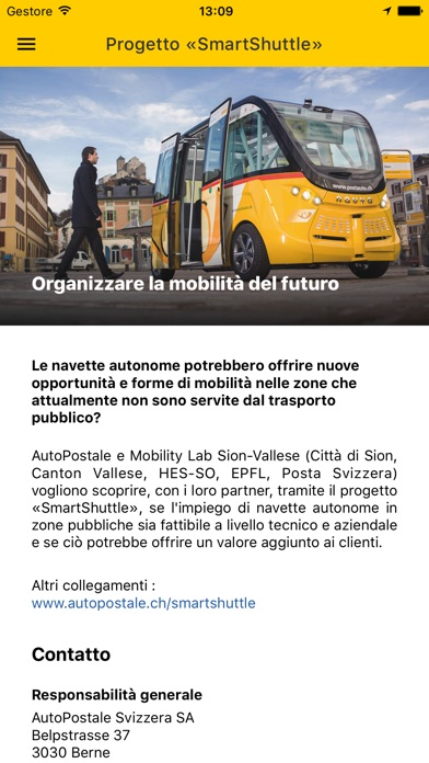 Screenshot of SmartShuttle di AutoPostale4