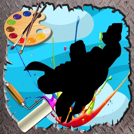 Coloring For Kids Game supermans Edition iOS App