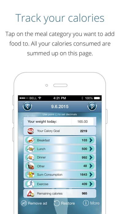 download Calorie Counter - loose weight fast, track calories and reach your weight goal apps 3