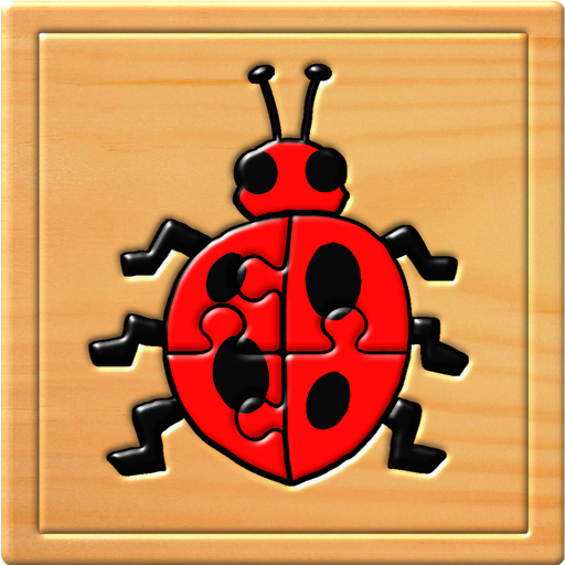 孩子昆虫拼图和记忆游戏-为学龄前儿童教育的乐趣