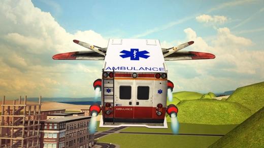 Flying Ambulance Driving 3d simulator Screenshot