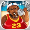 Basketball Fat to Fit Gym - real sports stars jump-ing & run shoot toss game for kids!