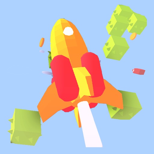 Jump Rocket Space Icon