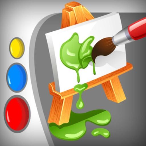 Cartoon SketchBook Paint - doodle, draw, sketch & color splash iOS App