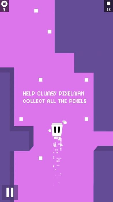 Clumsy PixelMan - 8 Bit Retro Runner Game Screenshot