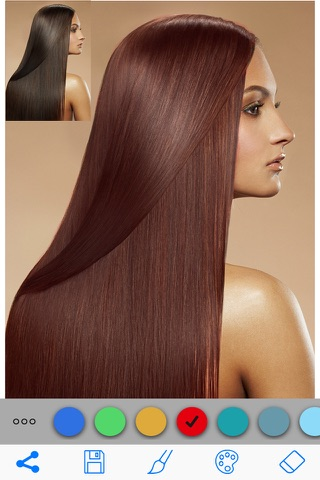 Hair Color Changer Salon Booth screenshot 4