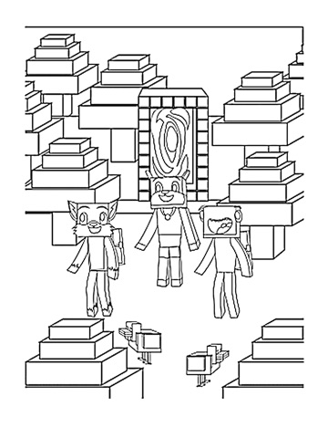 screenshot 2 - Minecraft Coloring Book