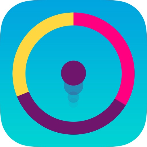 Color Switch Circle - slither the color dotz to pass spiny wheels iOS App