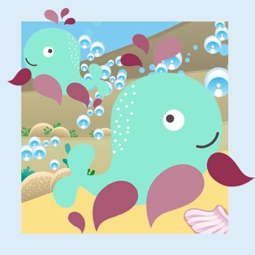 动物世界在一个美妙的动画孩子玩与学习游戏免费海中