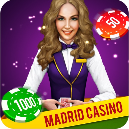 Madrid Casino - Roulette BlackJack Slots Poker Euro Vegas iOS App