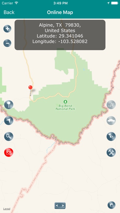 Big Bend National Park Map Texas On The App Store - Big bend national park map us