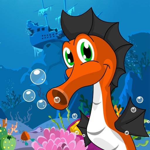 Blooby - Cute Seahorse Fish Game for Kids & Friends HD Free iOS App