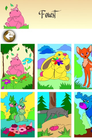 Coloring Pages with Animals for Girls & Boys - Painting Sheets with Tomcat, Hamster & Hippo for Kids screenshot 3