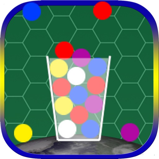 100 Color Marble - A Simple But The Best & Easy Hit And Tap Quick To Drop Action Ball In The Glass Cup Game iOS App
