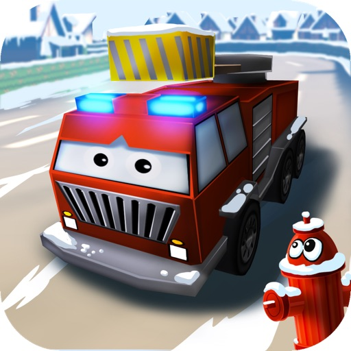 Little Fire Truck in Action - Driving Game With Cartoon Graphics for Kids iOS App