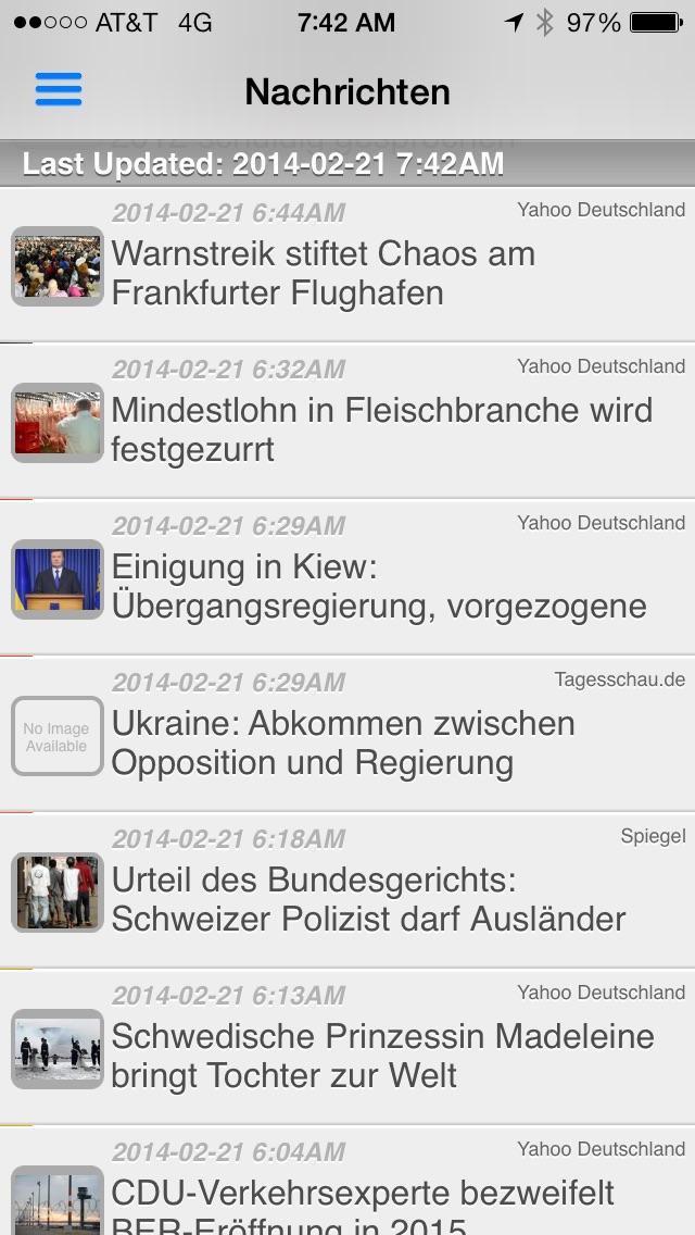 Deutschland Radio und Nachrichten Screenshot