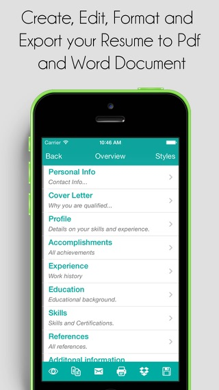 resume pro on the app store
