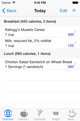 CalorieSmart Calorie Counter, Nutrition Tracker, Diet and Fitness Tracker screenshot 2