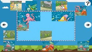 Puzzle de la mer - jeu de puzzles pour enfants en bas âge et les parents! Apprendre avec des poissons, anguilles, crabes, tortues, l'eau, océan, requin de la maternelle, école maternelle et l'école maternelleCapture d'écran de 5