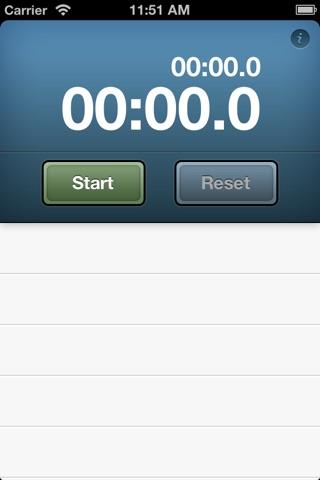 Easy Stopwatch screenshot 1