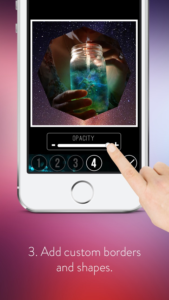 Screenshots of Galaxy Space Effects - Beautiful.ly Edit, Blend-er & Ajust Comet Astronomy Over-lays or Templates for iPhone