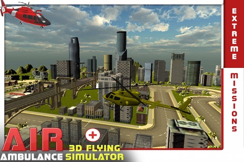 Air Ambulance Flying Simulator 3D: Fly Real Emergency Air Ambulance & Rescue People screenshot 1