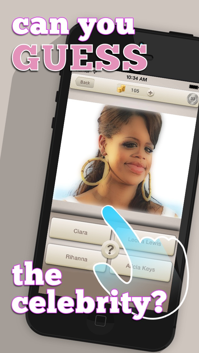 Screenshots of Cartoon Celebrity Photo Quiz: Guess The Celeb & Win! for iPhone