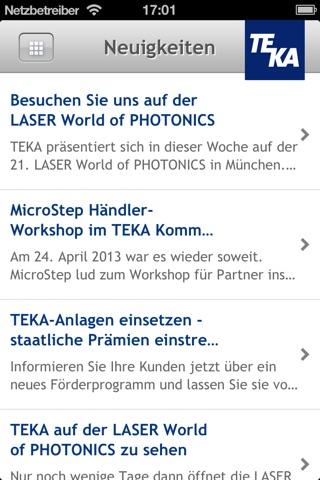 TEKA Unternehmensapp screenshot 2