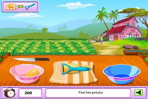 Young Girl Chef: Potato Pie -  A Potato Named Pou screenshot 2