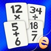Mathe Flashkarte Spiel-Spiele Für Kinder In Der Grundschule Zu Studieren Addition, Subtraktion, Multiplikation Und Division