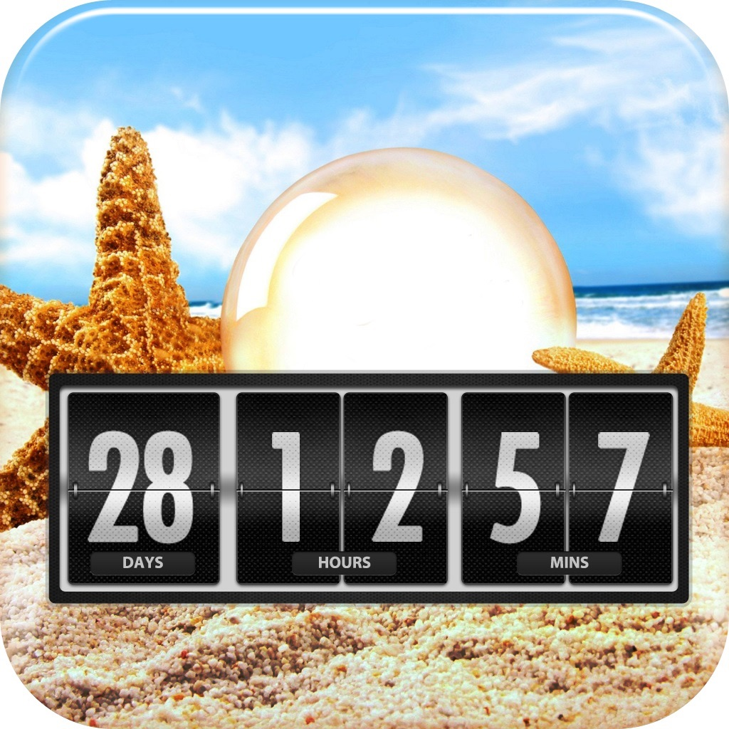 Holiday And Vacation Countdown Widget Event Timer