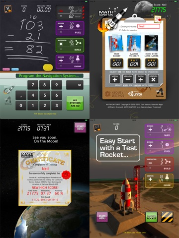 Screenshot #4 for MATH IGNITION™ Launch, LM Dock & TLI [iPad edition]