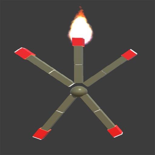 Flaming Stick Man iOS App