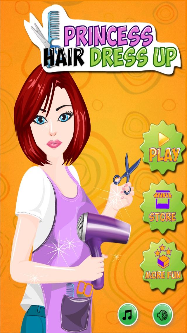 髪のプリンセスドレスアップ - ホットサロン&スパ化粧 - シックな10代の女の子のファッション変身ゲームのスクリーンショット1