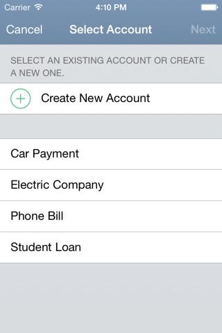 BillTracker for iPhone screenshot 4